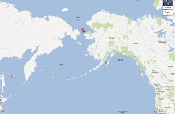 Beringstraedet  google maps 2011