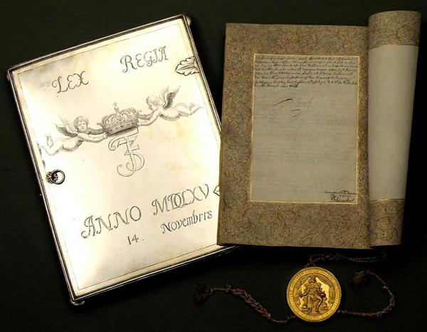 Kongeloven 1665  Kongens eksemplar  jpg 01
