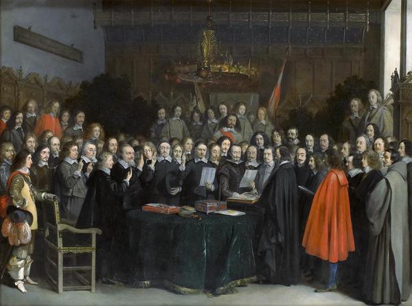 Westfaelischer Friede in Muenster  Gerard Terborch 1648